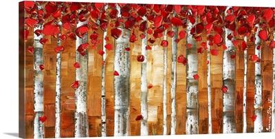 Red Birch Trees Landscape