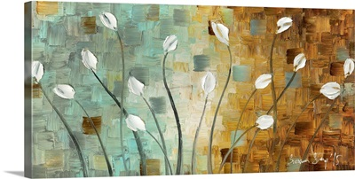 White Tulip Flowers Abstract