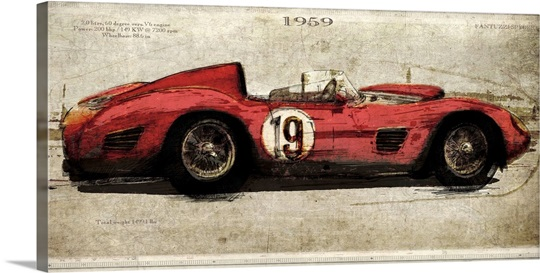 No.19 Ferrari Wall Art, Canvas Prints, Framed Prints, Wall Peels ...