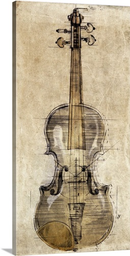 Violin III Wall Art, Canvas Prints, Framed Prints, Wall Peels ...