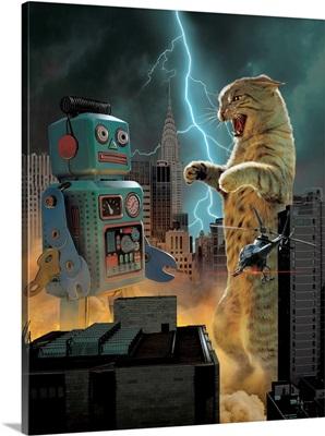 Catzilla vs. Robot