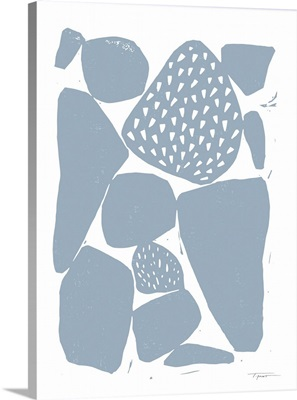 Organic Shapes With Patterns In Subdued Blue