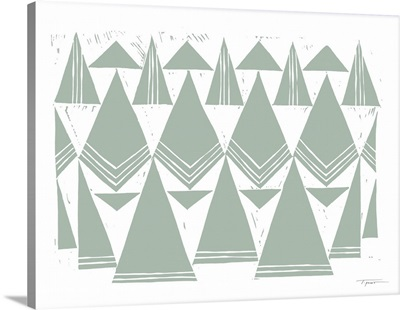 Triangles That Repeat Earthy In Green