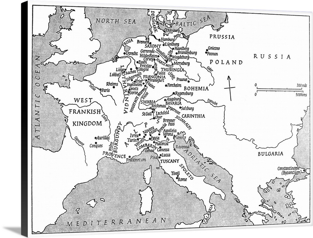 A Map Of Europe At the Time Of Emperor Charlemagne's Reign Wall Art Charlemagne S Empire Map on