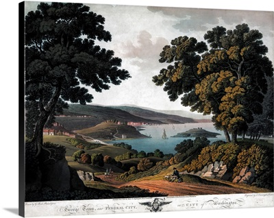 A View Of Georgetown And Washington, D.C., On the Potomac River, 1801