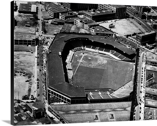 Aerial View Of Fenway Park In Boston Massachusetts Home
