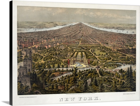 Aerial view of new york city looking south over central for Periferia new york
