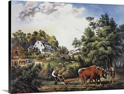 American Farm Scene, 1853