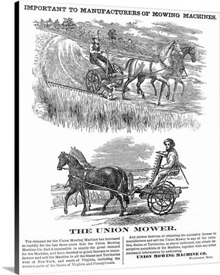 American Farming Ad, 1864