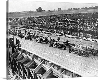 An auto race in the Washington, DC, 1922