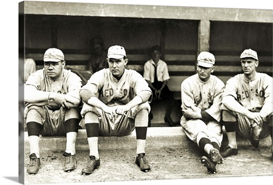 Babe Ruth and the Boston Red Sox, 1916 Wall Art, Canvas Prints ...
