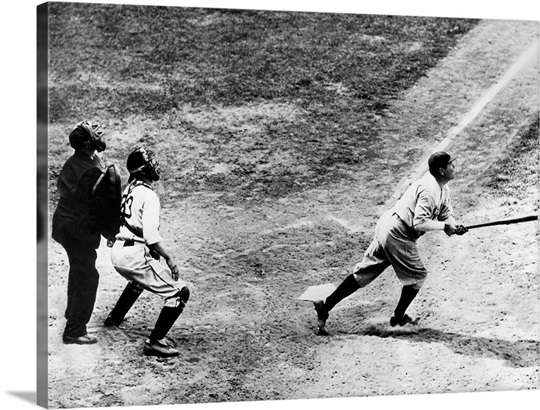 Babe Ruth Of The New York Yankees Hitting His 701st