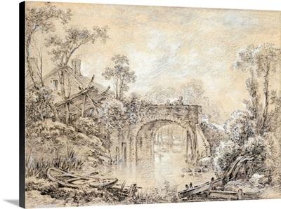 Boucher, Landscape, c1740