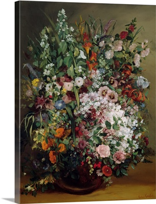 Bouquet Of Flowers In A Vase, 1862