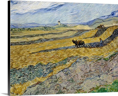 Enclosed Field With Ploughman, 1889