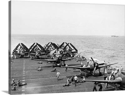 Flight deck of the aircraft carrier USS Enterprise, 1944