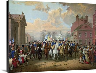 George Washington's triumphant entry into New York City, 1783