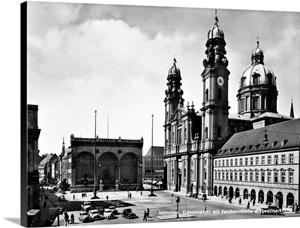 Germany Munich 1930s Wall Art Canvas Prints Framed Peels