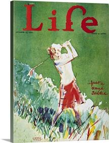 Golfing: Magazine Cover, Life Magazine