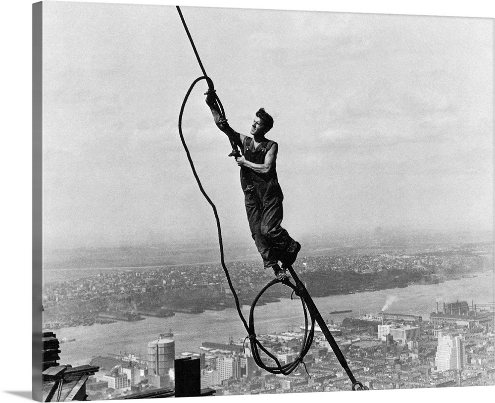 Hine Steelworker 1931 Atop The Empire State Building
