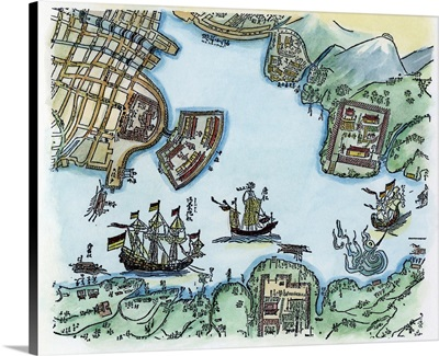Japan, 17th Century Harbor