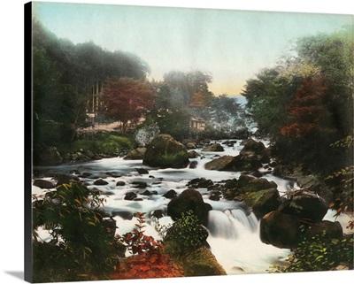 Japan, Waterfall, c1900