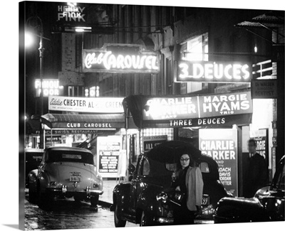 Jazz clubs and nightclubs on 52nd Street in New York City, 1948