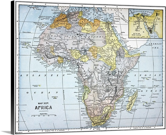 19th Century Africa Map.Map Africa 19th Century Wall Art Canvas Prints Framed Prints