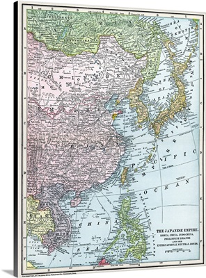 Map, East Asia, 1907
