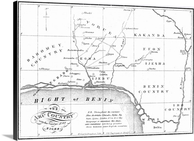 Map Of Africa, 1861