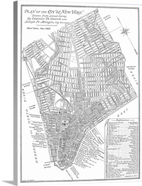 Map Of New York City Wall Art Canvas Prints Framed Prints - New york city map drawing