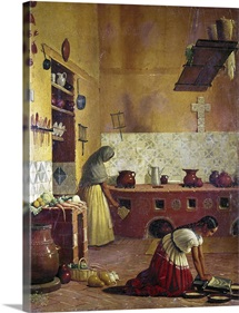 Mexico: Kitchen, C.1850