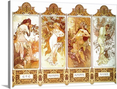 Mucha: Four Seasons, C1897, Lithograph poster