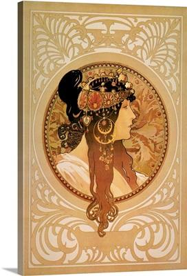 Mucha: Sarah Bernhardt, poster designed by Alphonse Mucha