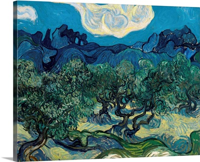 Olive Trees With Alpilles In the Background, 1889