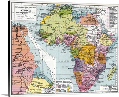 Partitioned Africa, 1914
