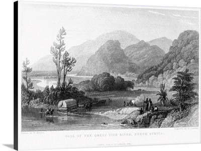 Pass Of the Great Fish River, South Africa, 1841