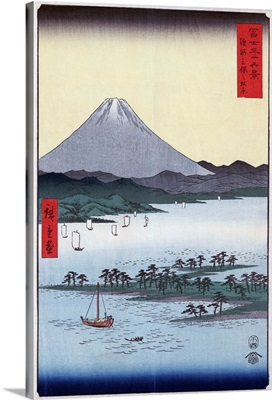 Pine Groves And Mount Fuji On Miho Bay In Suruga Province, Japan, c1850