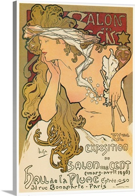 Poster for the 20th exhibition at the Salon des Cent in Paris, France, 1896
