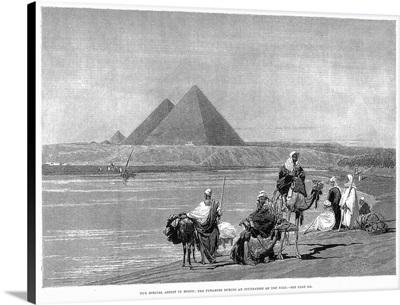 Pyramids At Giza, 1882