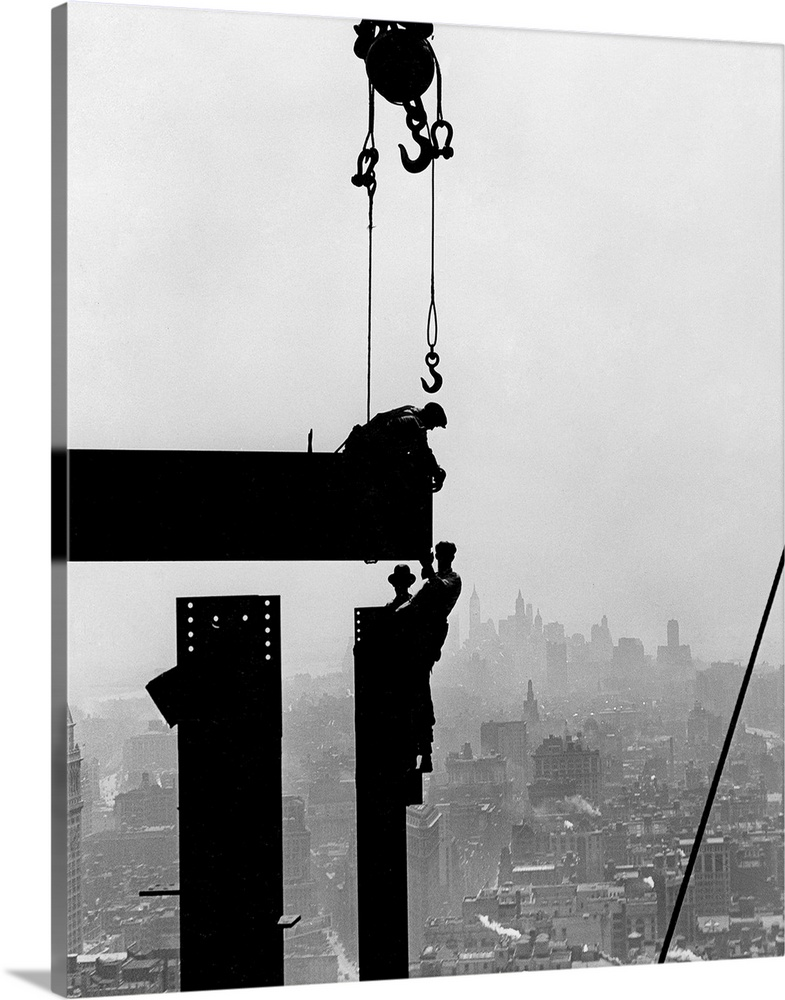 Steel Workers On Girders At The Empire State Building In New York City 1930 Wall Art Canvas Prints Framed Prints Wall Peels Great Big Canvas