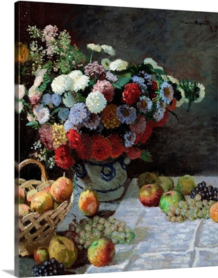 Still Life With Flowers And Fruit, 1869
