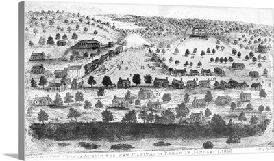 Texas, City Of Austin, 1840