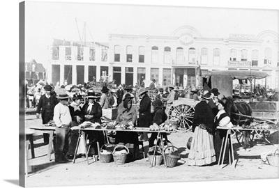 Texas, Market, 1887