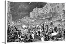 The Mardi Gras Parade In New Orleans, 1867