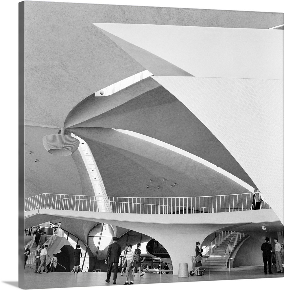 The Trans World Airlines Terminal At Idlewild Airport In New York