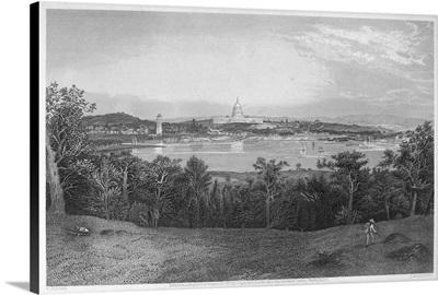 The United States Capitol, Dominating Washington D.C., 1872