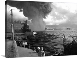 The USS California damaged during the Japanese attack at ...