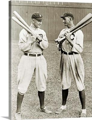 Ty Cobb and 'Shoeless' Joe Jackson, American baseball players