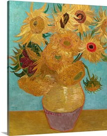 Vase With Twelve Sunflowers, 1889